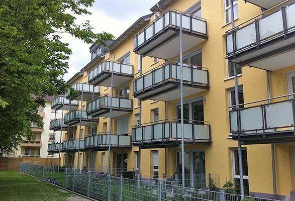 Mannheim, Ansicht Balkone, Wohnimmobilie