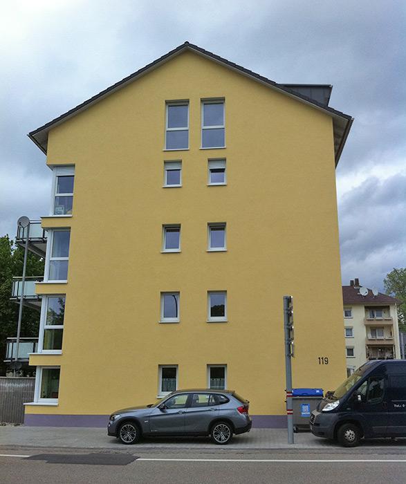 Mannheim Neuostheim, Ansicht von Straße